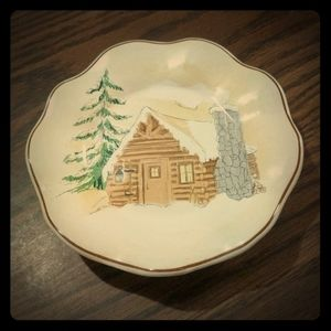 Log Cabin Candle Holder